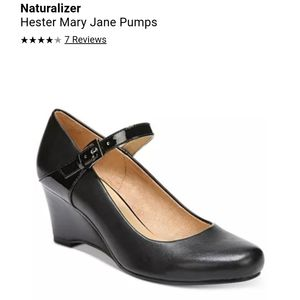 New Naturalizer Hester Mary Jane Wedge 7 Black